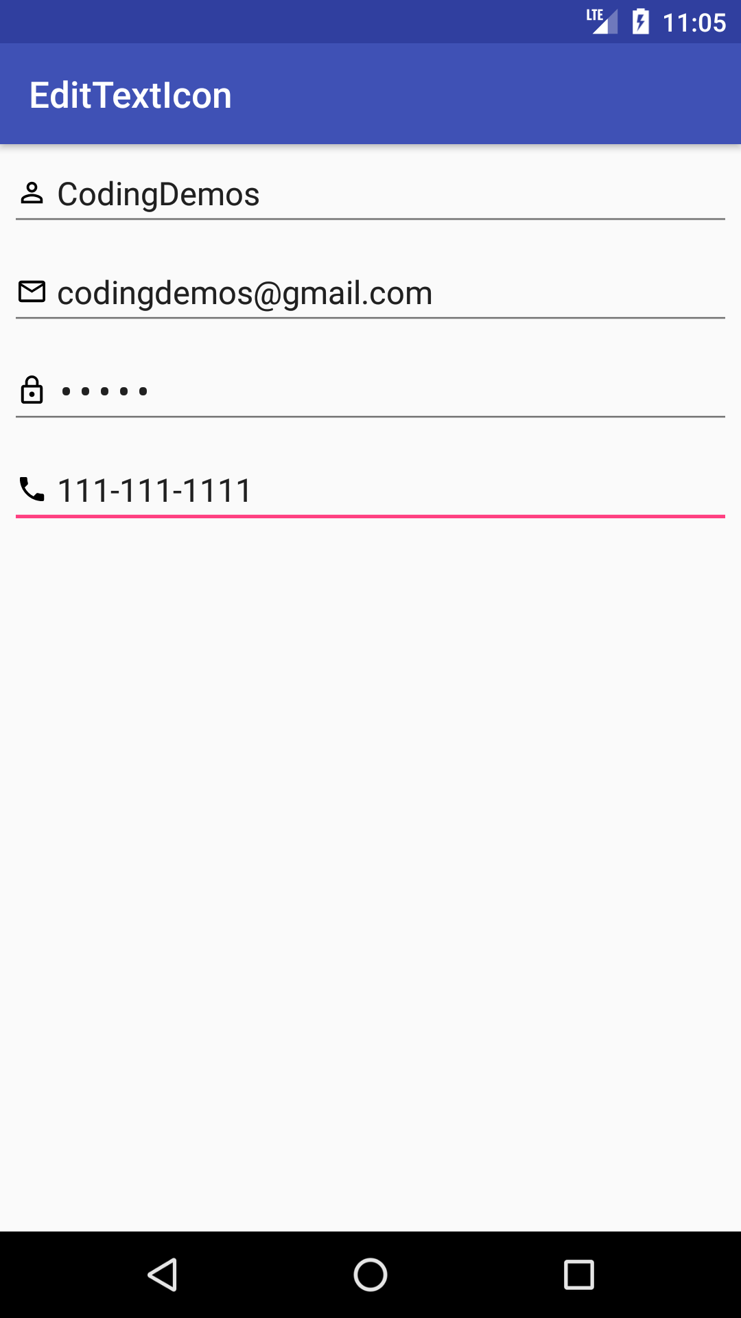 Android Menu Icon Size android edittext icon - how to add icon to edittext - coding