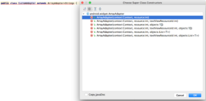 android custom adapter constructor