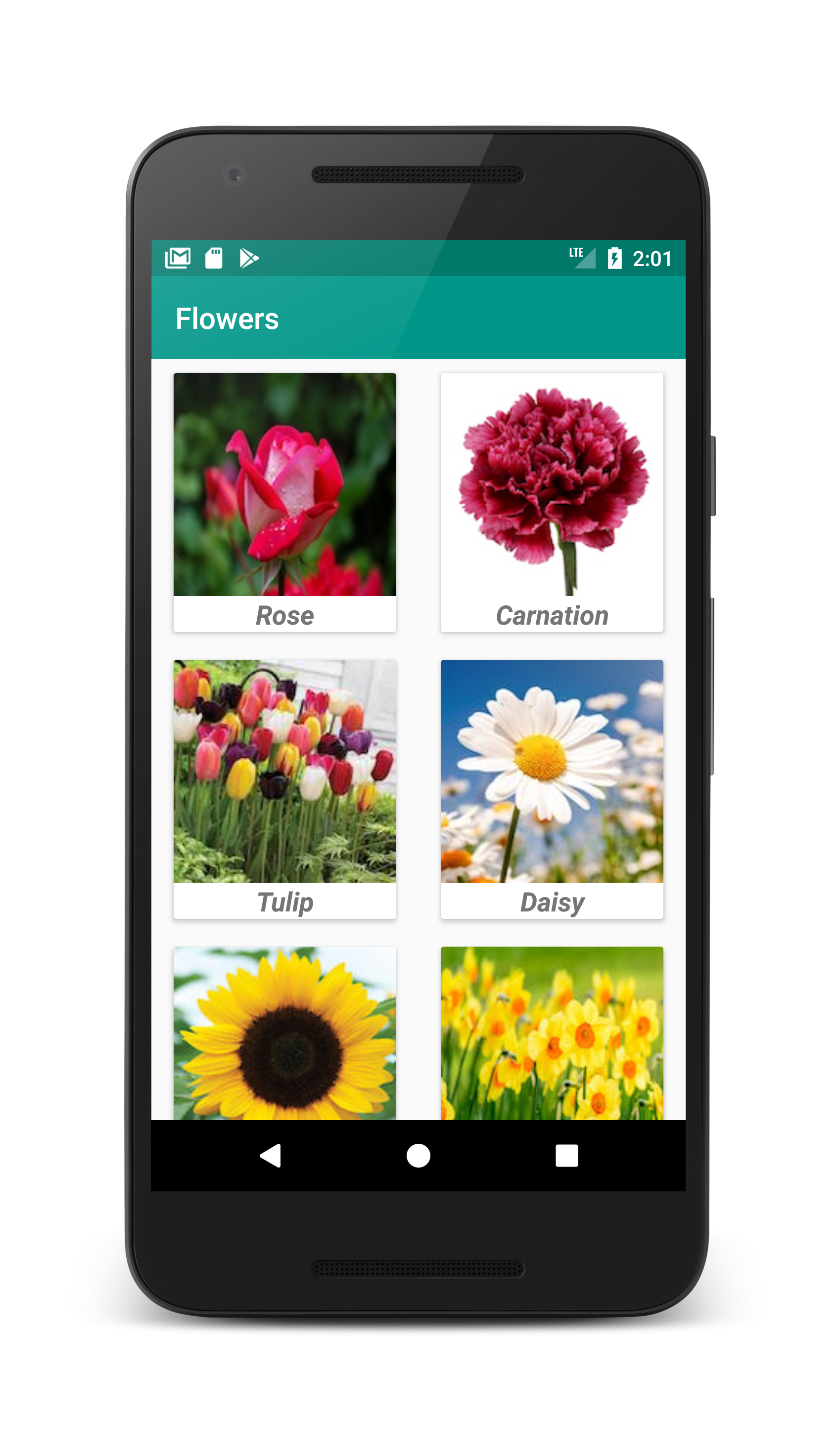 Android CardView Example With Gridlayout - Coding Demos