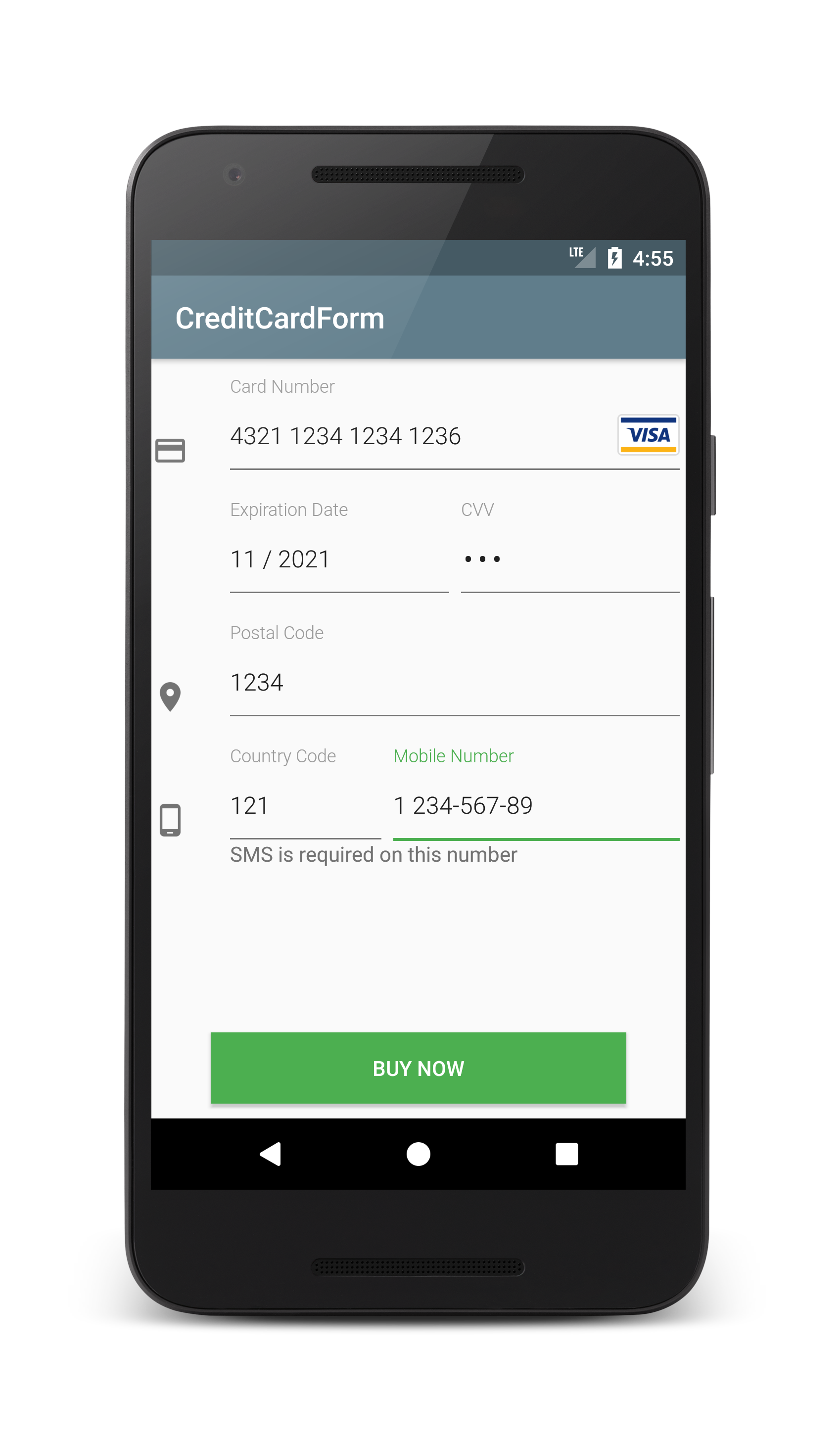 Android Credit Card Form Tutorial - Coding Demos