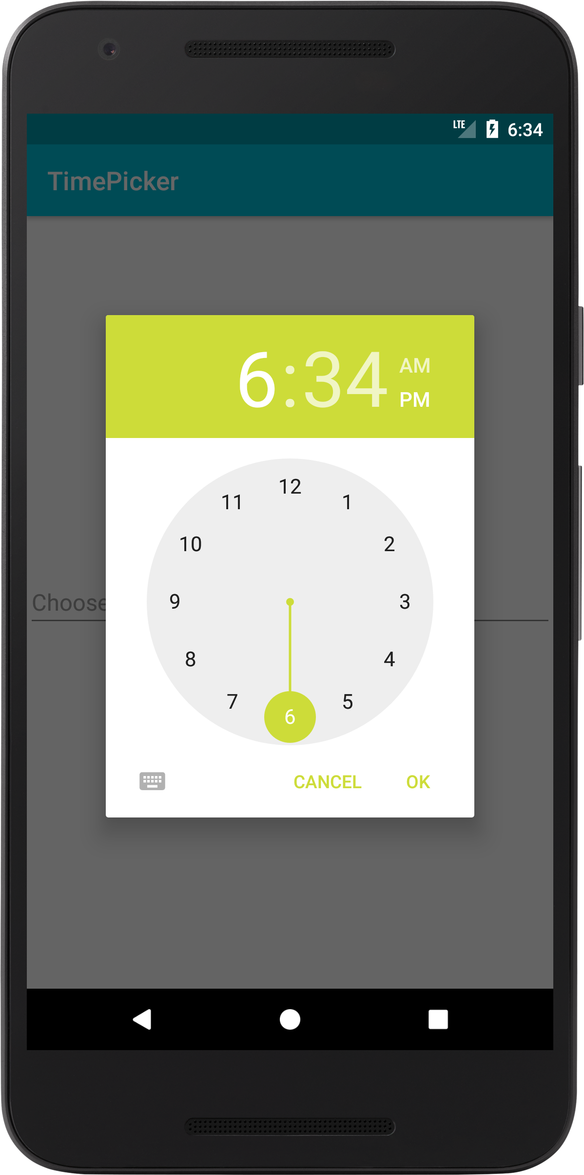 Android Timepicker - Use EditText to Show TimePickerDialog