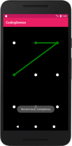 Pattern lock android tutorial