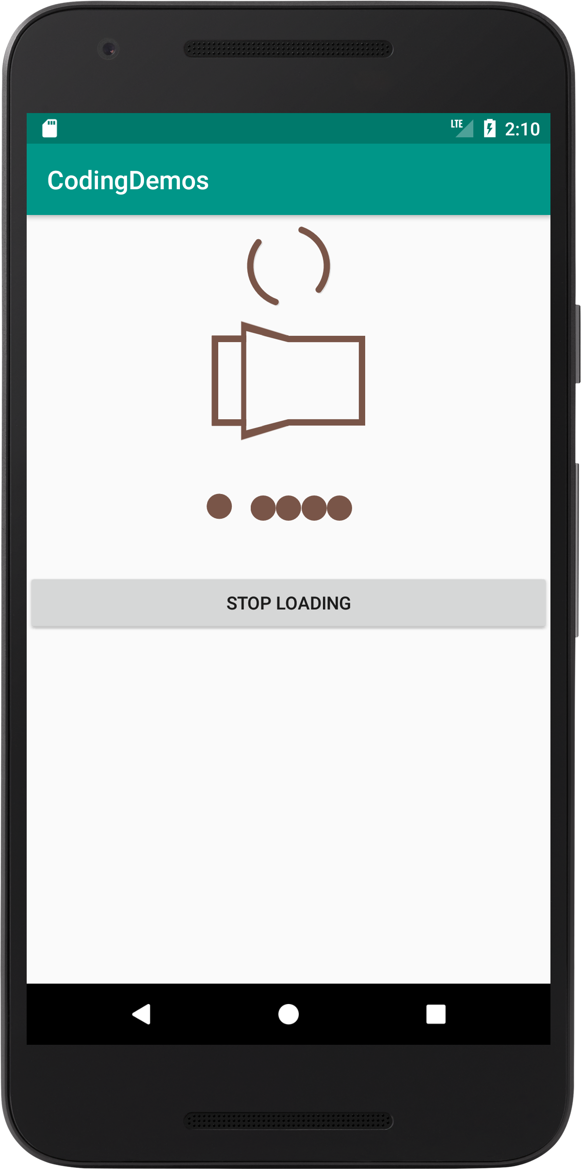 Android Loading View - Add Spinner And Dot Loading Animation